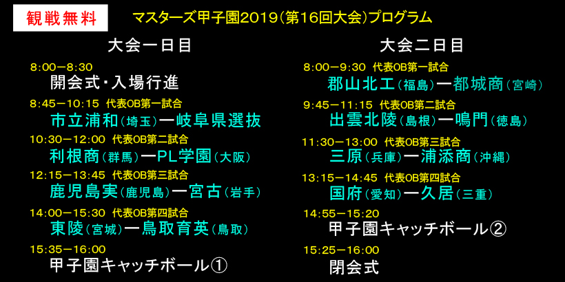 2019大会プログラム